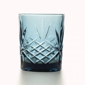 Glas 8,2x10cm Blauw