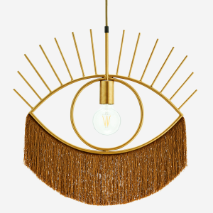 Pendant lamp with tassels - Goud