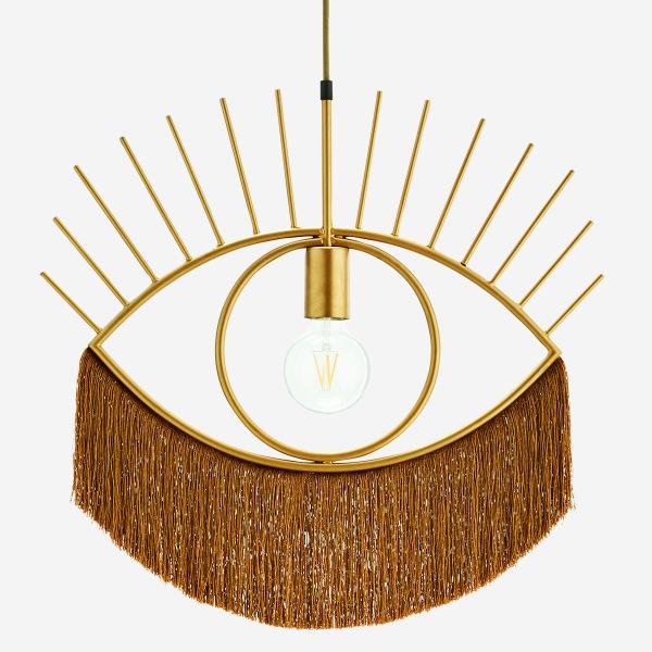 Pendant lamp with tassels - Goud