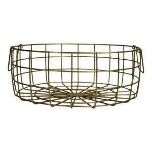 Metal basket - Gold