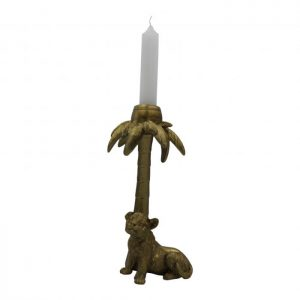 "Candle holder ""Tiger palm"" - Gold"