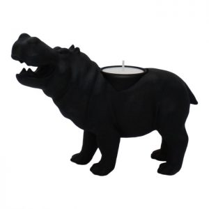 "Candle holder ""Hippo"" - Black"