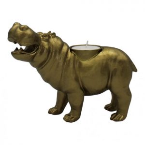 "Candle holder ""Hippo"" - Gold"