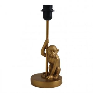 "Table lamp ""Sitting monkey"" - Gold"