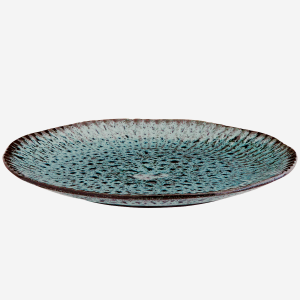 Stoneware dinerplate- Green/Black