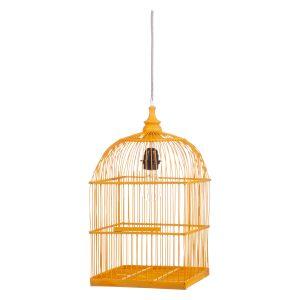 Birdy hanglamp bamboe geel.