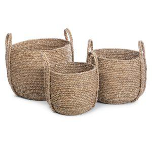 Kurv mand seagrass set van 3 stuks