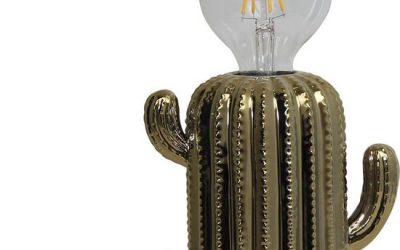 lamp cactus gold