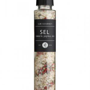 Salt rosemary, paprika, chili