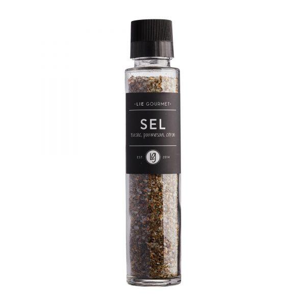 Salt basil, parmesan, lemon