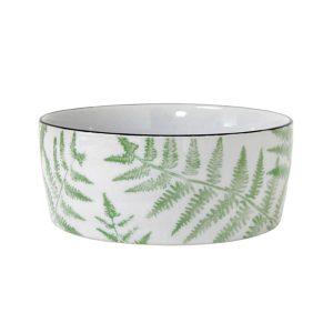 'Jungle' Porcelain bowl ferns
