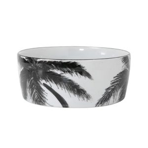 'Jungle' Porcelain bowl palms