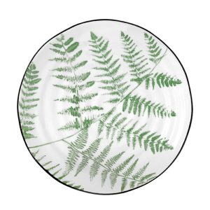 'Jungle' Porcelain serving plate ferns