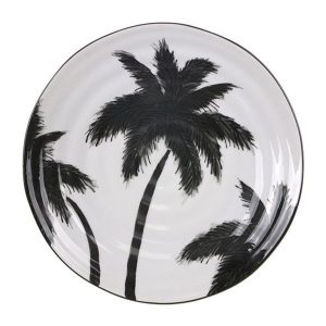 Porcelain Serving Plate Palms