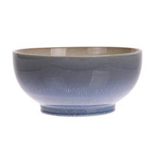 Ceramic 70's salade bowl L: ocean