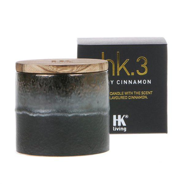 HK.3 Geurkaars in keramiek - Spicy Cinnamon