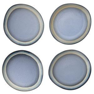 Ceramic 70's dinner plate blue L