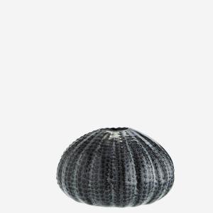 Sea urchins vase grey small