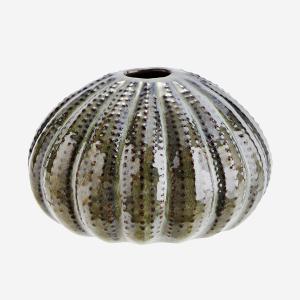 Sea urchins vase green middel maat