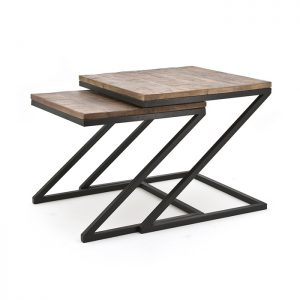 "Coffeetable set ""Zig Zag"""