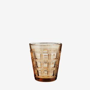 Madam Stoltz Drinkglas met relief Coffee
