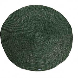 Carpet Jute round 120x120 cm - Groen