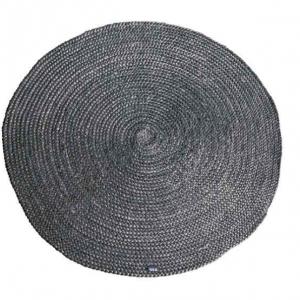 Carpet Jute round 120x120 cm - Grijs