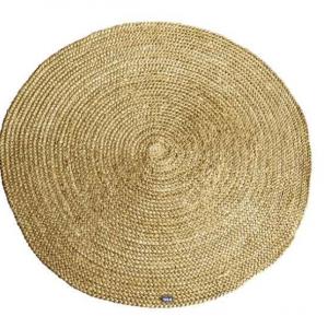 Carpet Jute round 120x120 cm - Geel