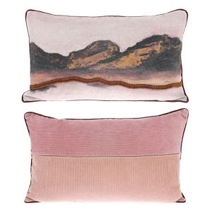 double-sided cushion stitched landscape