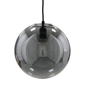 Glazen bal lamp - Smoky grey