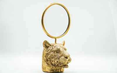 Tigerhead Mirror Gold